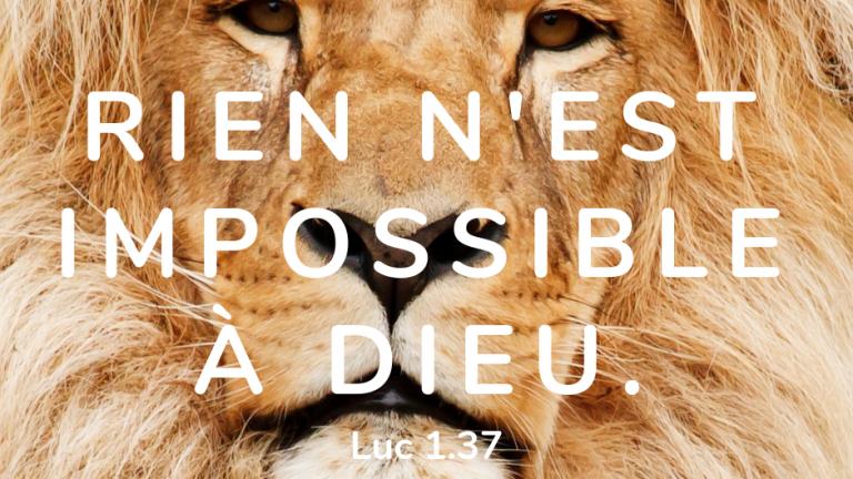 rien impossible dieu